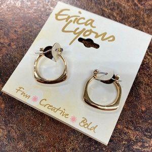 Erica Lyons Gold Hoop Huggie Earrings artisan G5